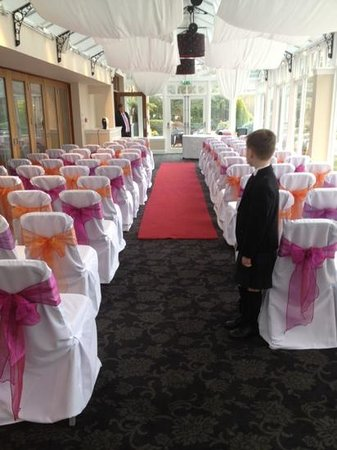 Rhu, UK: ceremony room - beautiful but cold!