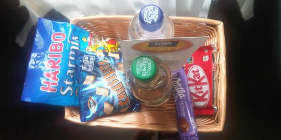 The Inn Boutique: Snack basket provided in room.