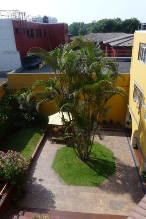 Hotel San Antonio Abad: From our bedroom window, just outside breakfast area