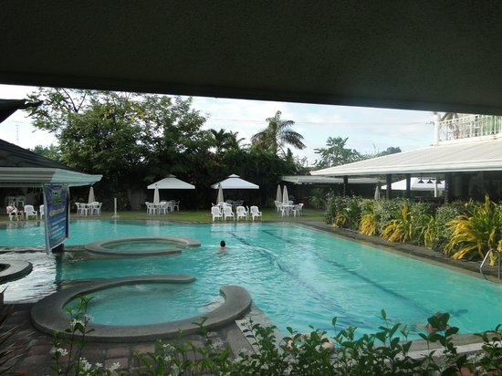Wild Orchid Resort: View of the Pool from my Poolside Balcony