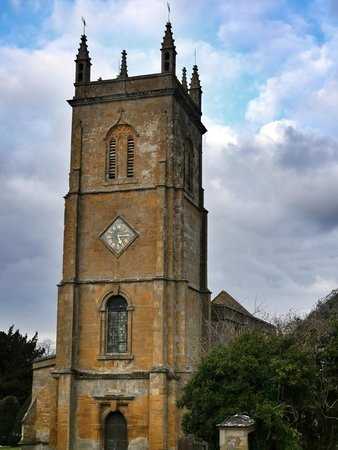 Blockley village church (late Norman, bell tower added in 1725)