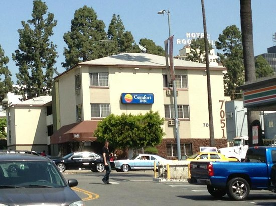 Comfort Inn Near Hollywood Walk of Fame: 向い側から