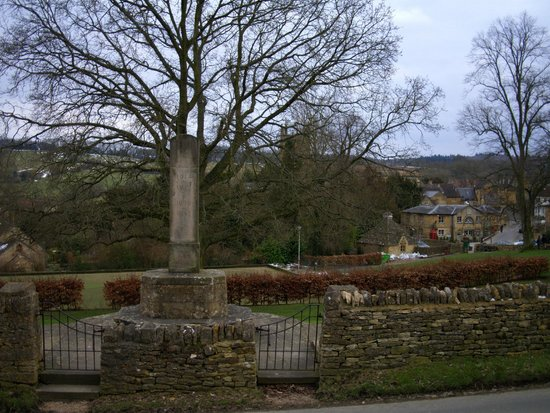 Looking down on Blockley from the war memorial