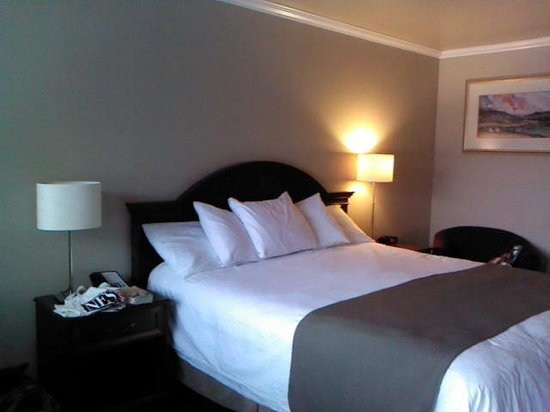 Chablis Inn: Very comfy bed with great linens!