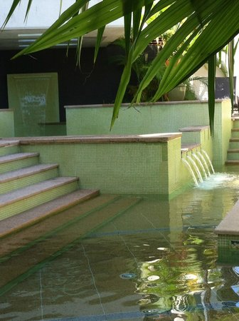 Peninsula Boutique Hotel: Walking into the pool