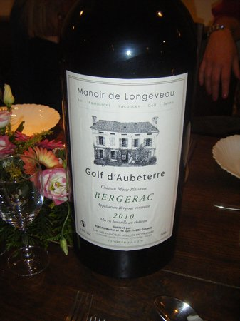 Manoir de Longeveau: A very large bottle of local wine!