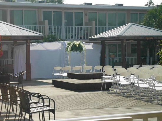 Osprey, FL: The pool deck where we had the ceremony