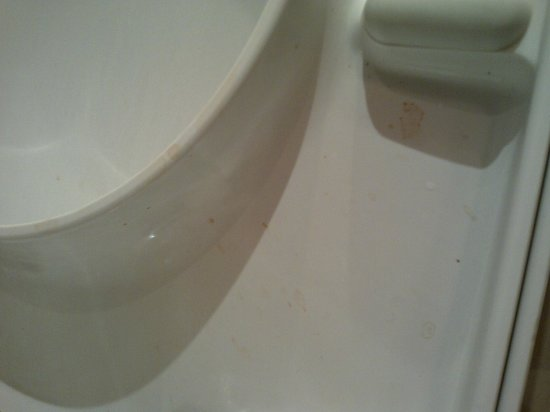 Shaftesbury Metropolis London Hyde Park: 'splattered' toilet seat - clearly not cleaned properly