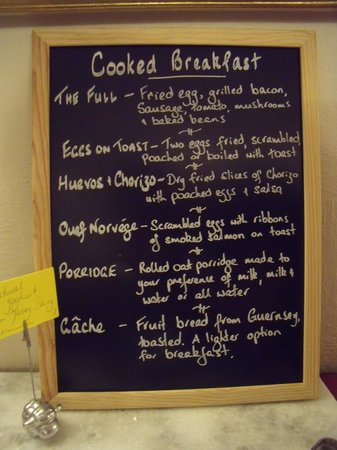 St. Lawrence, UK: What's for breakfast?