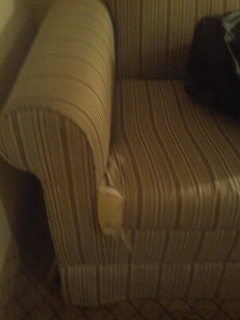 Comfort Suites Bluffton: sofa torn