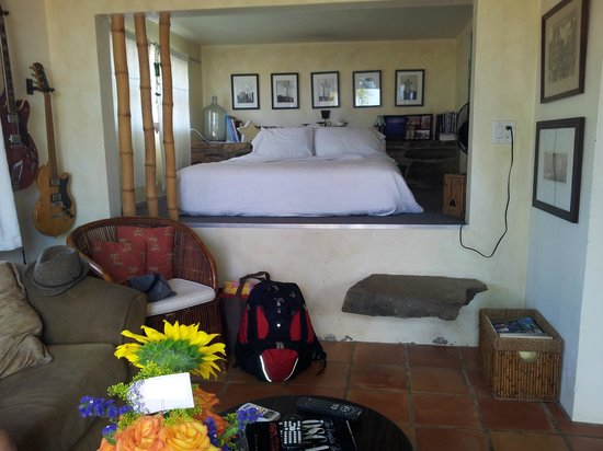 Costa Brava Guest House: Bedroom, looking from the sofa area..