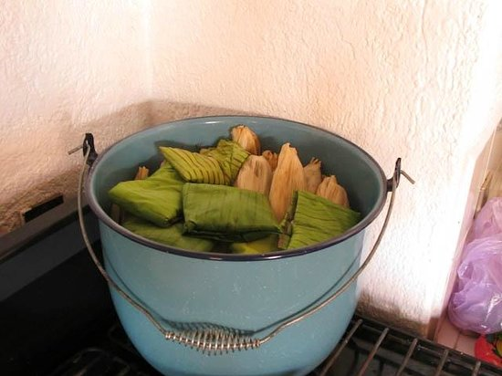 Hotel Azucenas: Tamales Ready for Steaming