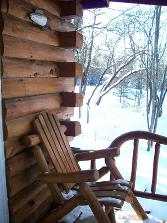 Josselyn's Getaway Log Cabins: Beautiful woodwork