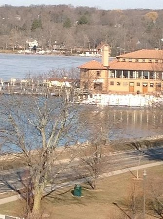 Harbor Shores on Lake Geneva: view from the other end from the fifth floor room