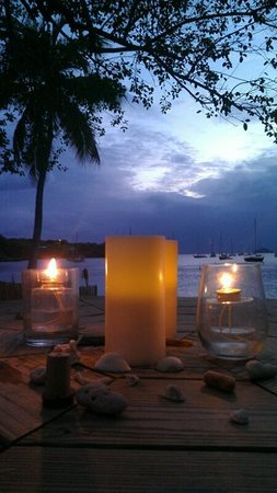 Virgin Islands Campground: dinner on the beach