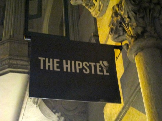 The Hipstel: Hostel sign