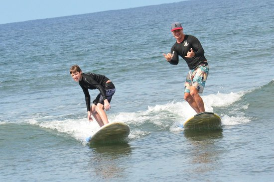 Paia, : My son surfing w/Zack