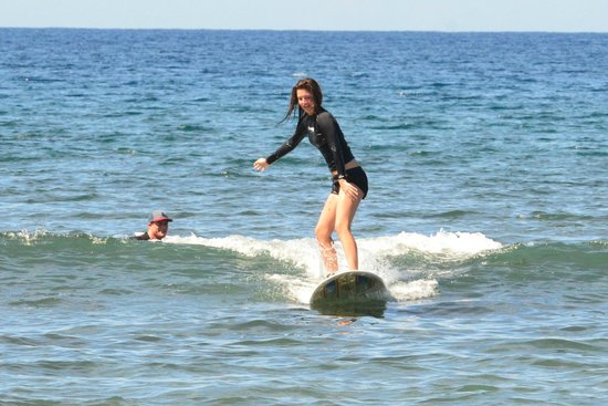 Paia, : My daughter surfing w/Zack