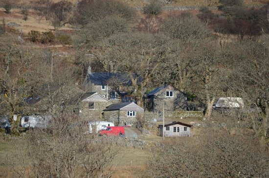 Trawsfynydd, UK: View of the farm from across the valley
