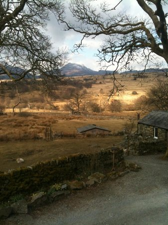 Trawsfynydd, UK: Morning view from camping barn
