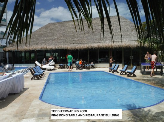 Generations Maroma, by Karisma: Wading/toddler pool and restaurant building