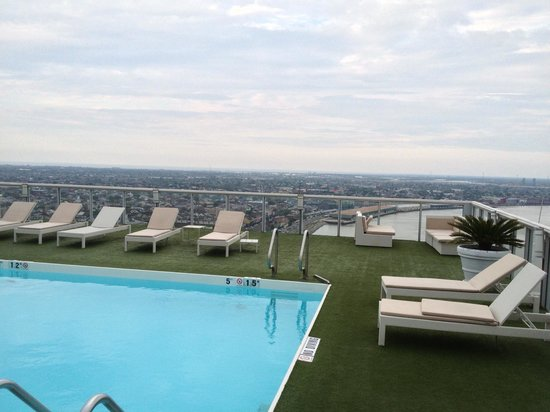 The Westin New Orleans Canal Place: One of the panoramic views from the rooftop pool. Date of stay: April 2, 2013