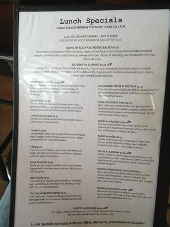 Monument, CO: Lunch Specials Mon-Fri