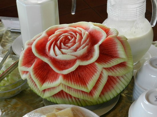 Casa De Goa Boutique Resort: Water melon at breakfast