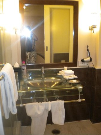 The Claridges: Sink area+ammenities