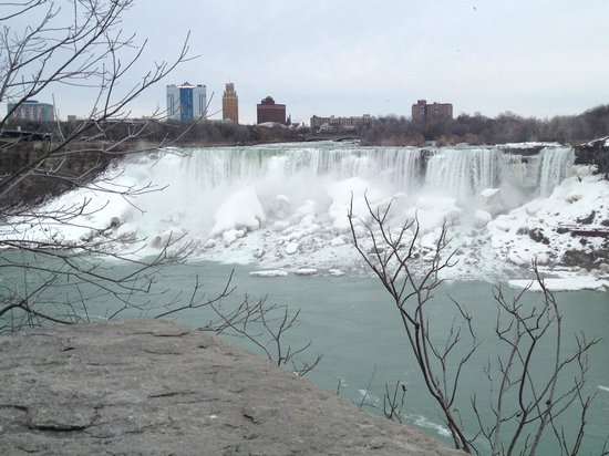 View of the American Falls and THE GIACOMO in the background