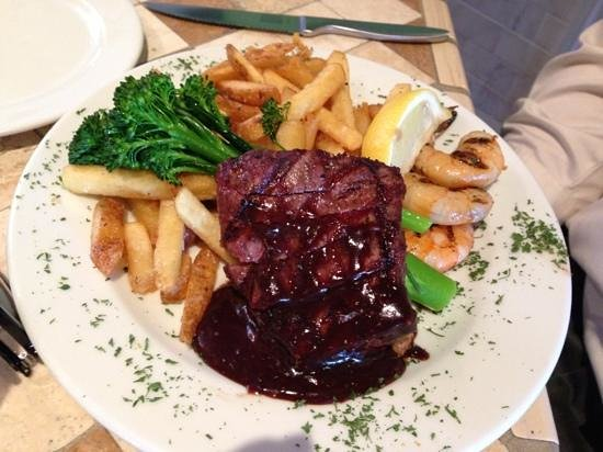 Steak with port demi glase picture of the copper fish for Steak and fish restaurants near me