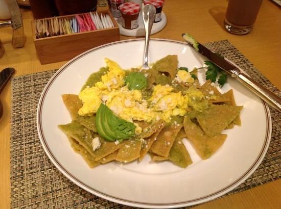 The Island Hotel Newport Beach: The delicious (spicy) chilaquiles.