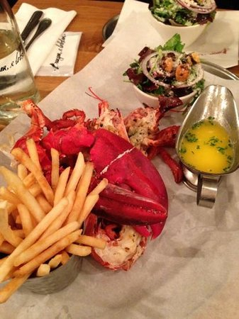 Grilled lobster with lemon butter sauce - Picture of Burger & Lobster ...