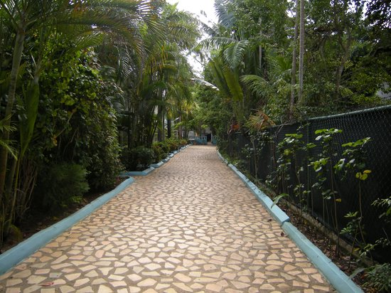 Legends Resort: Path from garden side to beach side