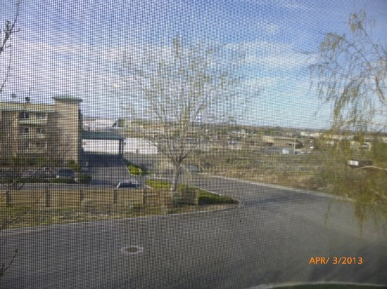 Comfort Inn: View from room but screens on windows prevented a good photo