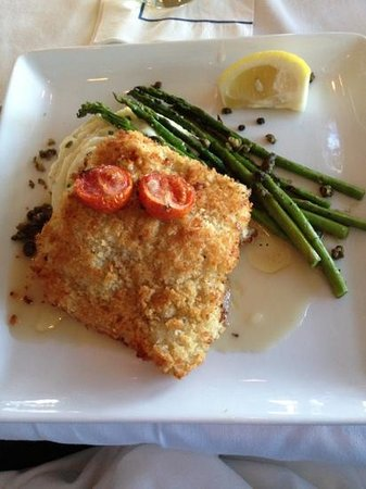 Stage Neck Inn: crusted haddock