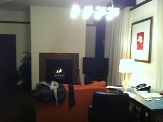 Magnolia Hotel Denver: Living room with Fireplace