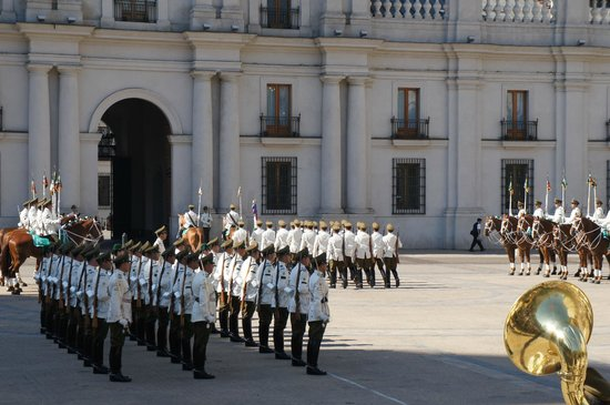 Photos of La Moneda, Santiago