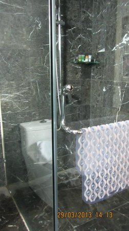 The BCC Hotel & Residence: shower area