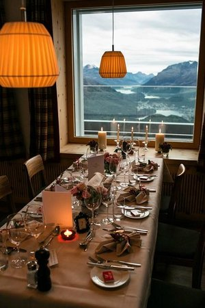 Samedan, Schweiz: Dinner with a view