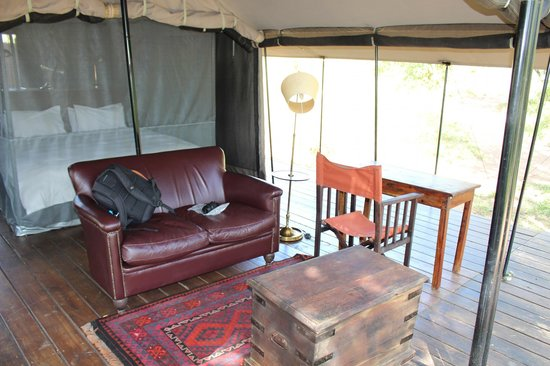 Honeyguide Tented Safari Camps: Each tent has it&#39;s own &quot;terrace&quot;