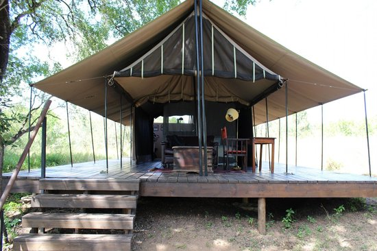 Manyeleti Game Reserve,  : This was our tent and it was first rate