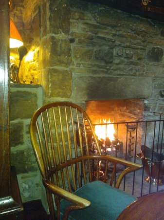 Romaldkirk, UK: Welcoming fire in the bar