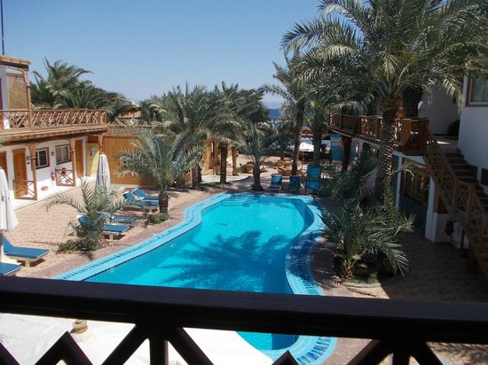 Acacia Dahab Hotel: View from our bedroom balcony, room 210