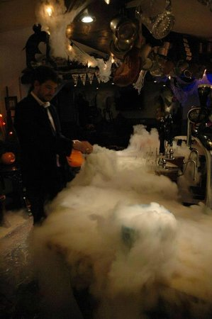 Appledore, UK: Dry ice on Hallow's eve