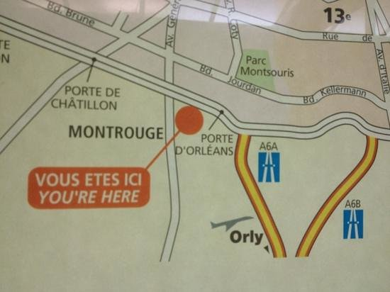 Location map picture of mercure paris porte d 39 orleans montrouge tripadvisor - Porte d orleans paris plan ...