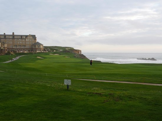 The Ritz Carlton Half Moon Bay: View from our room looking at the main building