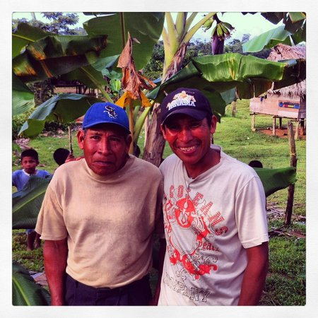 Laguna Azul Eco Lodge: Ferdinando grew up at Salt Creek Village. He introduced us to his Dad. Pictured here.