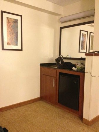 Hyatt Place Princeton: Separate bar sink, refrigerator area