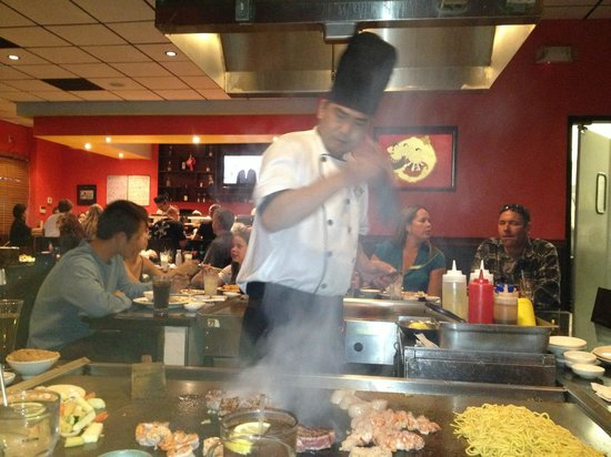 Our excellent chef for the evening at Okawa&#39;s in Santee